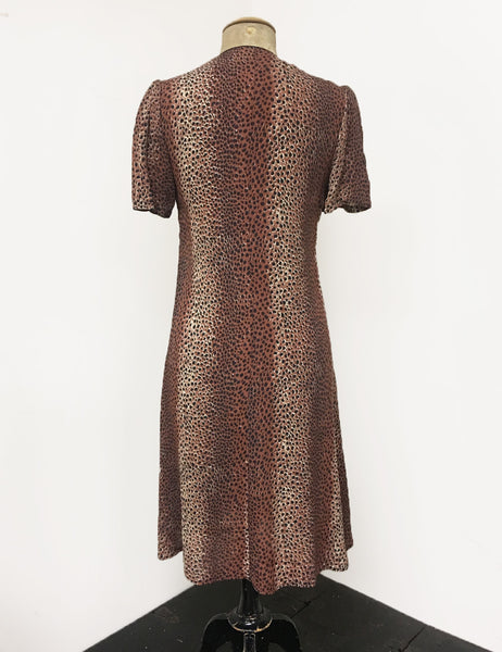 Vintage Inspired Leopard Print Mai Tai Knee Length Dress