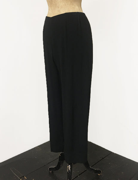 Solid Black Louise Lounge Cropped Pants