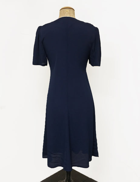 Navy Blue Nautical Style Mai Tai Knee Length Dress