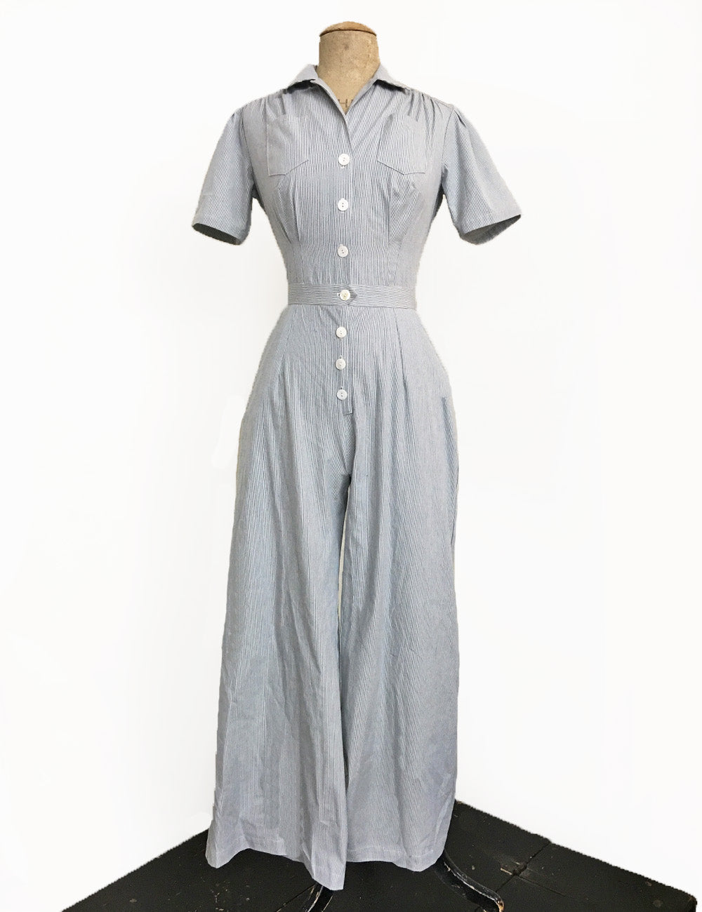 PREORDER - Scout for Loco Lindo Railroad Stripe Pacific 1940s Coveralls
