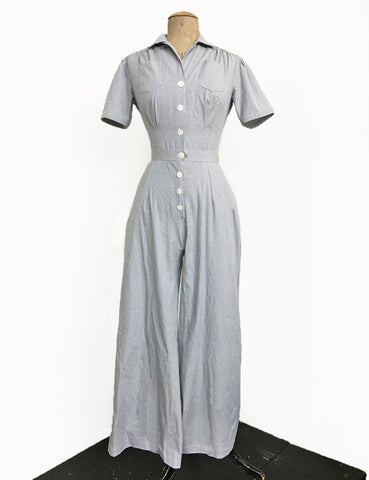 Scout for Loco Lindo Railroad Stripe Pacific 1940s Coveralls