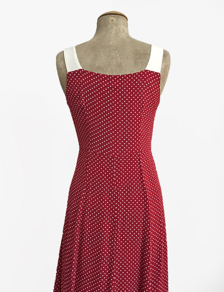 Red Hot Polka Dot Vintage Style Sleeveless Mi Amor Dress