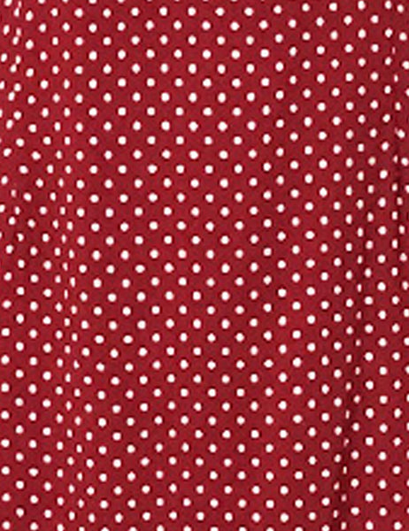 Red Hot Polka Dot 3/4 Sleeve Retro 40s Dress