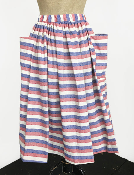 Scout for Loco Lindo Red White & Blue Americana Button Front Petunia Skirt