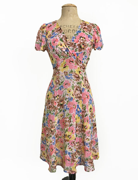 Sheer Spring Fling Floral Knee Length Rita Dress