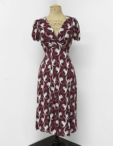 Raisin & Mint Deco Twister Print Retro Rita Dress