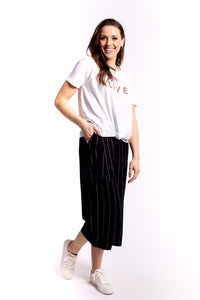 Zafina Delano Pants Black-stripe