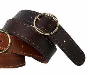 Loop Leather Cherry Lane belt - chocolate
