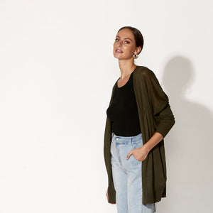 Fate + Becker Grand Illusion Cardi Washed Khaki