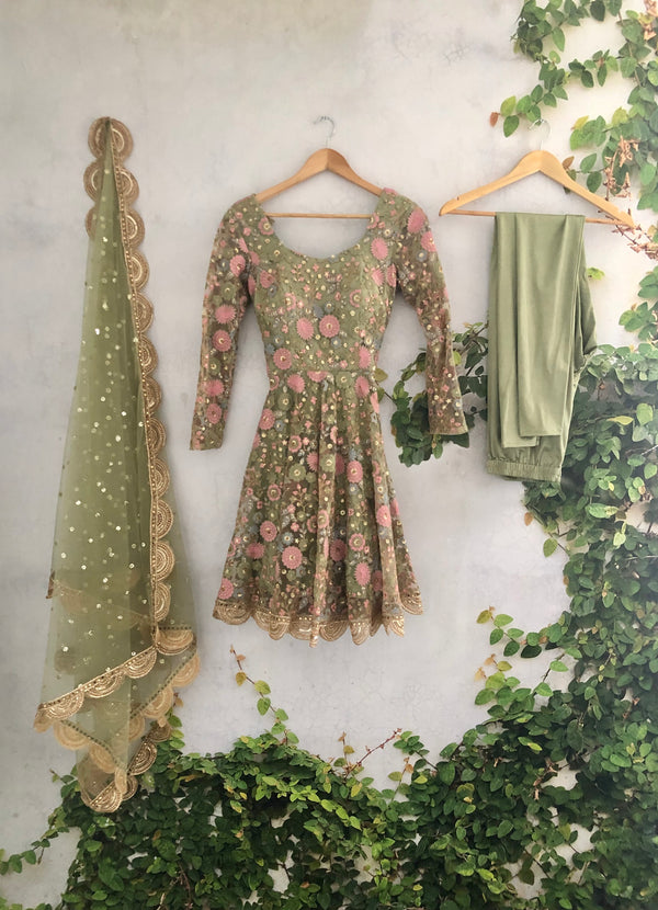 Sage Anarkali (Off the Rack)