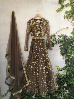 Starry Night Anarkali (Off the Rack)