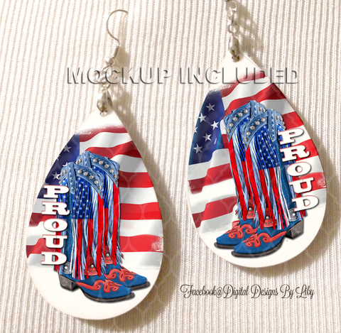 RWB PROUD Earrings