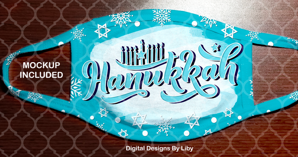 HAPPY HANUKKAH-Blue (Center & Full Designs)