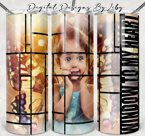 WINDOW TO MY HEART 20oz SKINNY TUMBLER PNG & SIL STUDIO Format