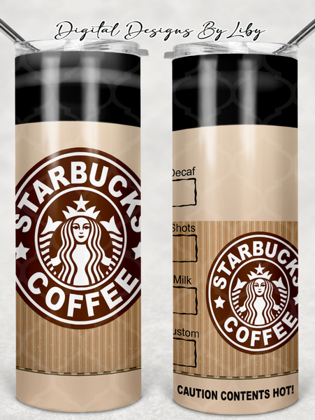 CARRY OUT COFFEE 20oz & 30oz SKINNY TUMBLERS & MUG Designs
