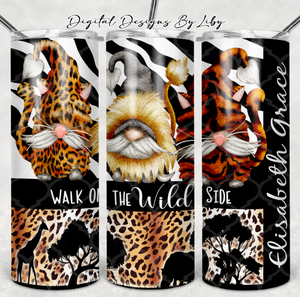 WALK ON THE WILD SIDE GNOME 15oz & 20oz Skinny-Mug-Journal 20oz SKINNY & MUG DESIGNS & JOURNAL