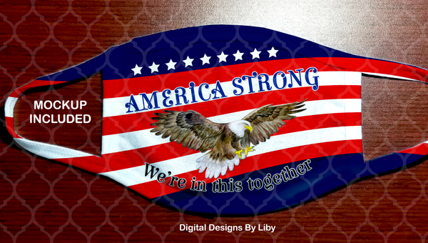 AMERICA STRONG (2 Designs~Eagle & Sign Language Hands)