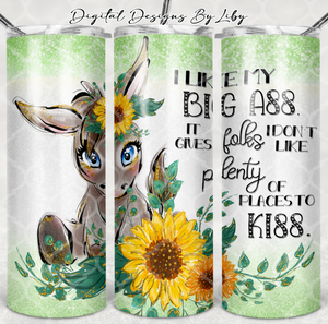 DONKEY KISS 20oz SKINNY & MUG DESIGNS + WORDART Separate