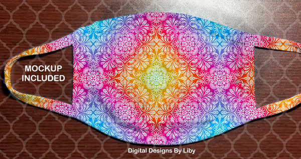 TIE DYE MANDALA (Full & Center Designs)