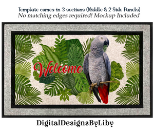 AFRICAN GREY WELCOME MAT