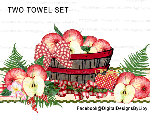 Grandma's Recipe Kitchen Towel Set of 2 Designs (Apples)