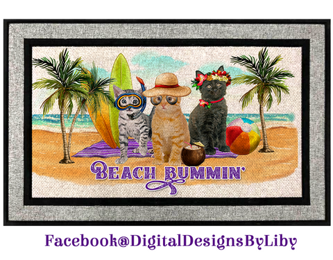 BEACH PAWTROL (Door Mat Design only)