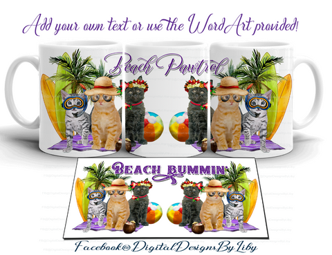 BEACH PAWTROL ( T-Shirt, Mug & Coaster Designs)