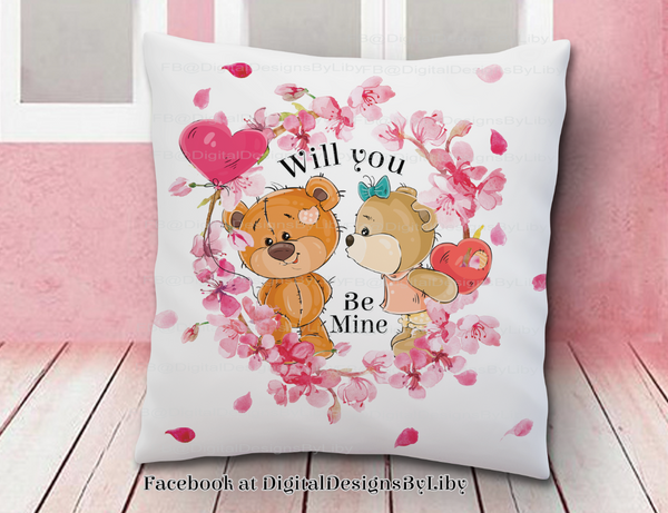 BE MINE BEARS TShirt, Pillow & More
