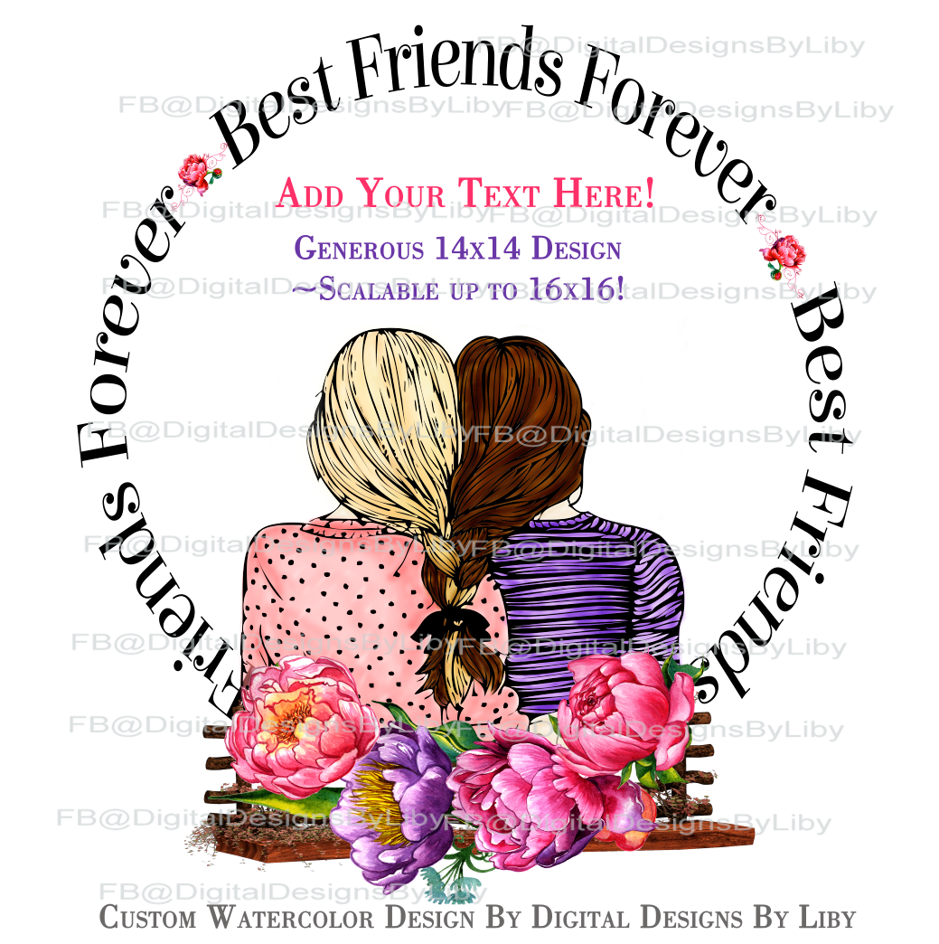 Best Friend Forever Bff Pillow Amp More Template Digital