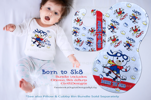 BORN TO SK8 MEGA BUNDLE (Tee, Bib, Burpie, Pillow & Cubby Designs)