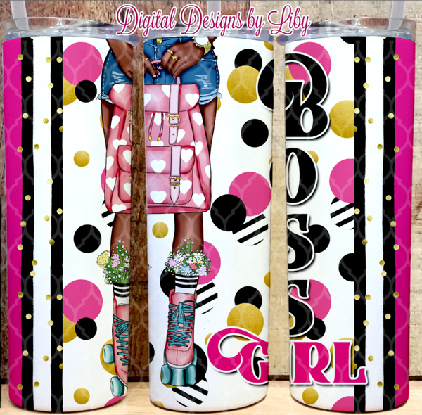 BOSS GIRL SKATER (2 Designs~ Light & Dark Skin)