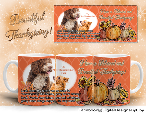 BOUNTIFUL THANKSGIVING Mug Design