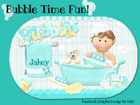 BUBBLE TIME FUN! (Bath Mat 4-Designs)