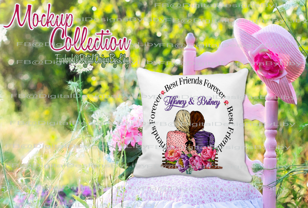 FIELD OF FLOWERS PILLOW MOCKUP 2 (png & psd formats)
