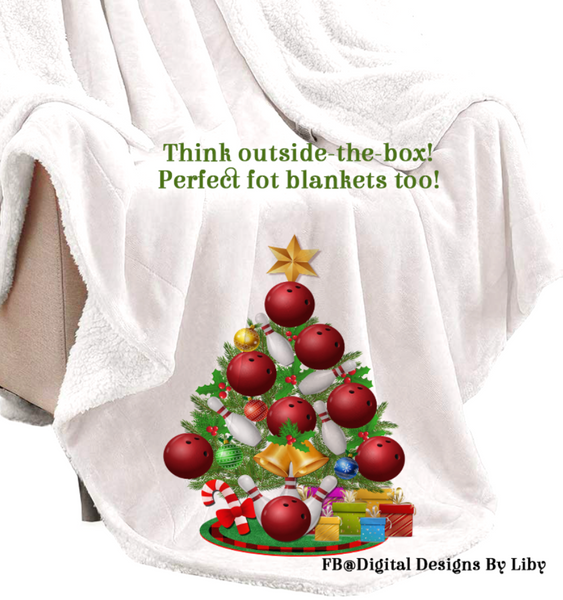 BOWLING BALL CHRISTMAS TREE BUNDLE (T-Shirt, Towel, Pillows, Mat & More)