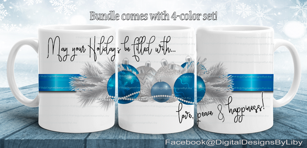 LOVE, PEACE & HAPPINESS (4-Color Bundle Set)