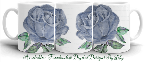 "Simply a ""ROSE"" - 7 Unique Watercolor Designs for Mugs"