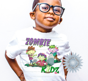 ZOMBIE KIDZ  T-shirt 2 Designs for Boys & Girls