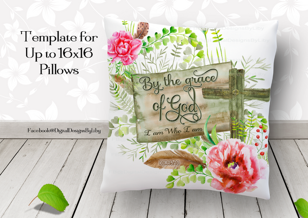 BY Grace I AM FULL BUNDLE (pillow, slate, poster & mug)
