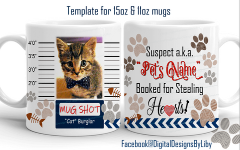 Cat Burglar Mug Shot Template