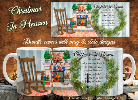 CHRISTMAS IN HEAVEN (Mug & RECTANGULAR Slate Designs)