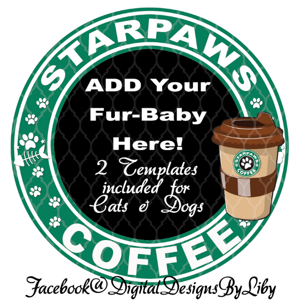 STARPAWS COFFEE (Dogs & Cats Designs for T-Shirt, Mugs & More)