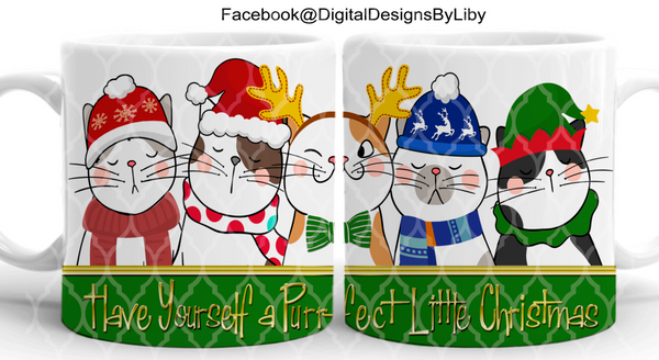 """PURRFECT"" LITTLE CHRISTMAS (2 Designs)"