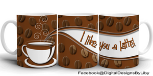 COFFEE LOVERS Mug Template + Bonus WordArt!