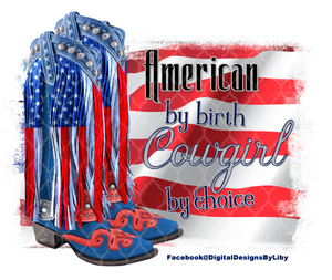 AMERICAN COWGIRL (2 Designs for T-Shirts, Mugs & More)