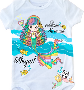 CUTEST LITTLE MERMAID (Onesie & Tee Design)