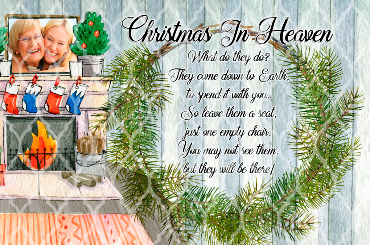 Christmas In Heaven What Do They Do.Christmas In Heaven Mug Slate Designs