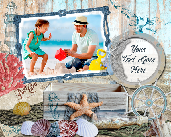 Post Card from the Beach BUNDLE (pillow, slate, photo panel)