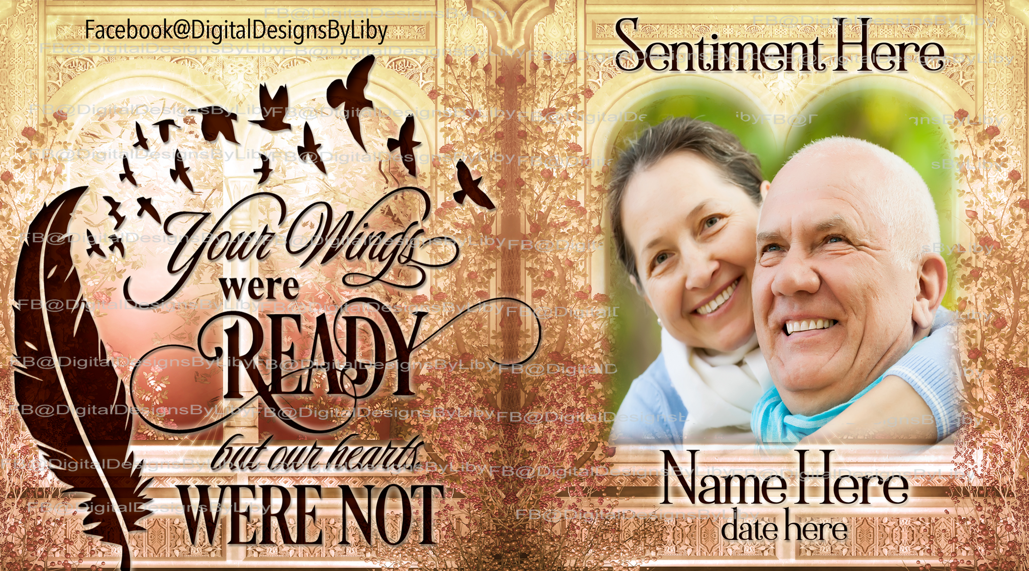 YOUR WINGS WERE READY Memorial Mug & Slate Templates
