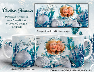 CHRISTMAS MEMORIES Mug & Slate (3 Templates Each!)